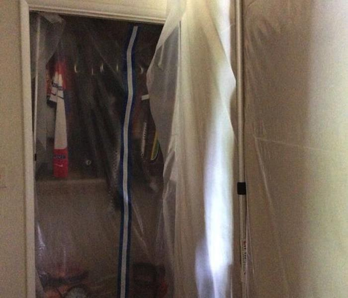 Mold Damage – Anchorage Bedroom Containment